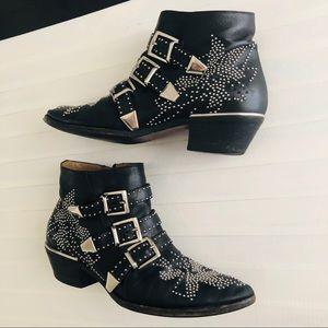 Chloe Sz39.5 Susanna Boots Black US9-9.5